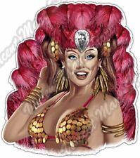 "Vegas Showgirl Girl Show Pin Up Dancer Lady Car Bumper Vinyl Sticker Decal 4.6"""