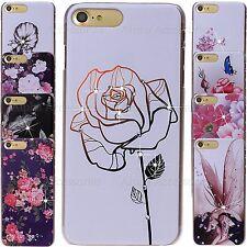 Diamante Estrás Brillante Impreso Patrón Floral Carcasa para iPhone 7