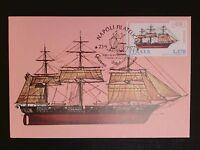 ITALIA MK 1977 SEGELSCHIFF SAILING SHIP MAXIMUMKARTE CARTE MAXIMUM CARD MC c8539