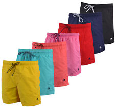 Mens Plain Swim Shorts Beach Contrast Summer Mesh Lined S-3XL