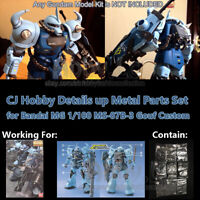 for Bandai MG 1/100 MS-07B-3 Gouf Custom Gundam Model CJ Details Metal Parts Set