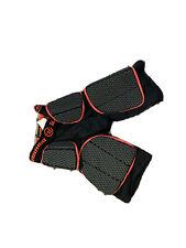 "Warrior lacrosse Burn Leg Protective Pad Medium Size (30""-32"") Black/Red"