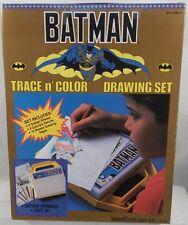 DC Superheroes - 1989 Batman Movie Era Light Up Trace N' Color Drawing Set (MIB)