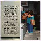 Removable Vinyl Decal Art Mural Family Minecraft 3D Decor Quote Wall Sticker AU