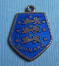 Vintage enamel Meka Denmark sterling charm