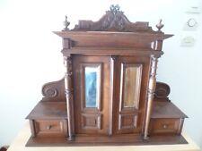 rare ancien meuble toilette fin XIX début XXe a suspendre bois, glace biseautée