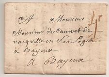 LETTRE COVER LAC Manche,THORIGNY S.LO à sec,8/10/1762,Lenain 1a ind.25=1400€ RRR