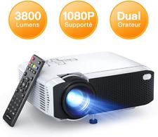 Mini Projecteur 3800 Lumens 1080P Supporte Portable Videoprojecteur Full HD