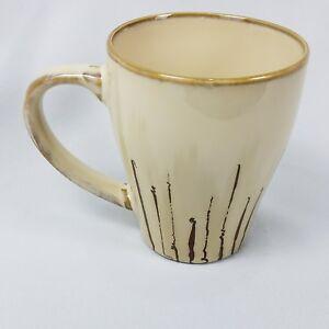 Pier 1 One Sanctuary Starburst Mug Coffee Beige Ivory Large