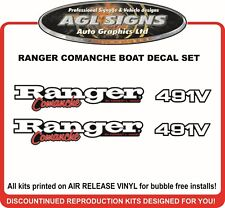 RANGER Comanche 491V Reproduction Boat Decals