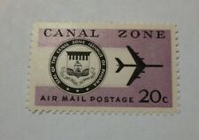 US Possessions Canal Zone CZC45 1965 20c lilac, blk Seal and Jet Air Post MH