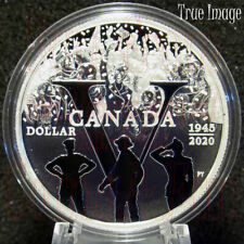 1945-2020 75th Anniversary of VE Day - $1 Proof Pure Silver Dollar Coin Canada