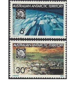Australian Antarctic Terr 1971 Treaty 10th Anniv (2), Unhinged Mint SG19-20