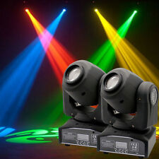 2pcs 30W RGBW Spot LED Moving Head Stage Light DMX Disco DJ Party Gobos Lighting
