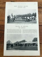 1896 racing illustrated print - racing in ireland - the curragh - alexandra park