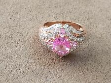 HSN Victoria Wieck 4.18ct Absolute Created Pink Sapphire Ring Size 10