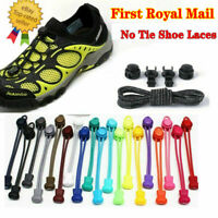 UK No Tie Elastic Lace System Easy Lock Shoe Laces Shoelaces Runners Adults Kids