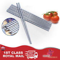 1-5 PAIRS STAINLESS STEEL METAL TWIST TRADITIONAL CHINESE CHOPSTICKS Home Gifts