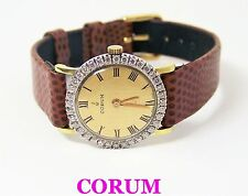 Solid 18k CORUM Ladies Watch 27307 with 1ct Diamonds FVS1* EXLNT* SERVICED
