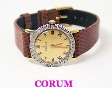 Solid 18k CORUM Ladies Watch 27307 with 1ct Diamonds FVS1* EXLNT* SERVICED
