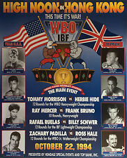 TOMMY MORRISON vs HERBIE HIDE 8X10 PHOTO BOXING POSTER PICTURE RAY MERCER BRUNO