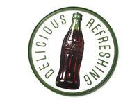 "Coca-Cola Retro Vtg Bottle Metal Tin Sign c1923 Official Reproduction 11/""X35/"""