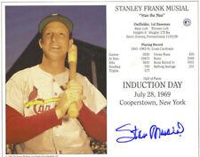 Stan Musial St. Louis Cardinals Autographed Signed 8x10 HOF COA #5 DECEASED