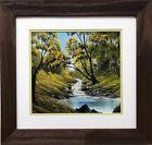 """Bob Ross """"Little Valley of Stream"""" Happy Trees CUSTOM FRAMED ART Nature Print"""