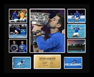 Novak Djokovic Signed 2019 Australian Open Limited Edition Memorabilia Framed