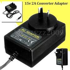 AC 100-240V Adapter DC 15V 2A Switching Power Supply 2000mA AU Plug 5.5mmx2.5mm