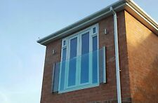 Frameless Juliet Balcony – 10yr Guarantee – Sizes from 1.28m to 2.84m