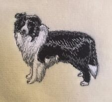 Border Collie, Hand Towel, Embroidered, Custom, Personalized, Dog