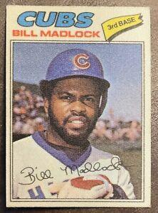 1977 Topps Cloth Sticker #25 Bill Madlock Chicago Cubs