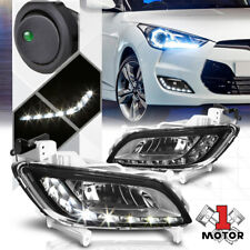 Smoke Tinted LED DRL Fog Light Bumper Lamps w/Switch+Harness for 12-17 Veloster