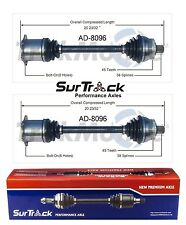 For Audi A4 FWD 2002-2009 Pair Set of 2 Front CV Axle Shafts SurTrack AD-8096
