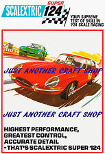 Scalextric 124 E Type Jaguar A3 Size Poster Advert Leaflet Shop Sign from 1968