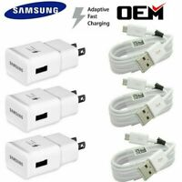 OEM Samsung Galaxy S7 S6 Edge Note5 Note 4 Origina Fast Charger Micro USB Cable