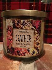 Bath & Body Works Gathering 3 wick 14.5 oz candle Marshmallow Fireside