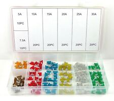 120pc Low Profile Mini Fuse Assortment Set APS Auto Car Motorcycle SUV Kit