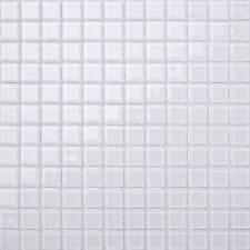 1 m² Glace Blanc Mosaïque Verre Mur Carrelage Salle de Bain Douche Toilette À faire soi-même 0079