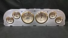1960 1961 1962 1963 CHEVY TRUCK 6 GAUGE DASH CLUSTER GOLD