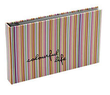 Hardback Stripped 15 Sheets 30 Photos Slip In Photo Album By Katz 0706C-PA