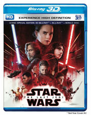 Star Wars: The Last Jedi (Blu-ray 3D + Blu-ray + Bonus) (3 Disc)(All)(NEW)(2017)