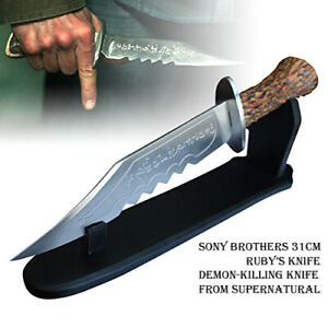 Ruby's Demon Killing Knife Supernatural Survival Knife with Display Stand.