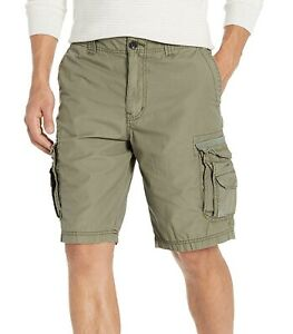Unionbay Mens Shorts Dusty Green US Size 36 Zip-Fly Solid Utility Cargo $39 856