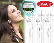 3x Universal Earphones w/ Mic 3.5mm In-Ear Stereo Earbuds Headset iPhone Galaxy