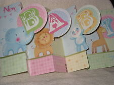Burgoyne Handmade 3 D Fold-out New Baby Greeting Card - NEW