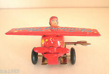 Vintage TRAINING PLANE Wind Up Tin Toy / China, NIB, New/Boxed