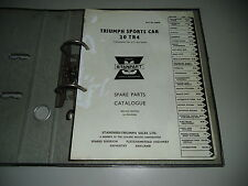Ersatzteilkatalog Spare Parts Cataloge Triumph Sports Car 20 TR4
