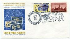 1977 Planetary Flights Stars Midwest Postage Stamp Show Chicago Space NASA Sat